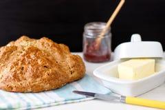 Παραδοσιακό ιρλανδικό καφετί ψωμί σόδας στοκ εικόνες με δικαίωμα ελεύθερης χρήσης