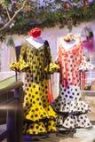 Παραδοσιακό ισπανικό flamenco φόρεμα Στοκ εικόνα με δικαίωμα ελεύθερης χρήσης