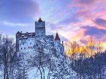 Παραδοσιακό κάστρο του πίτουρου, Ρουμανία στοκ φωτογραφία