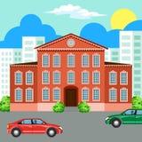 Παραδοσιακό και σύγχρονο σπίτι Ανασκόπηση εικονικής παράστασης πόλης landscape urban Στοκ Εικόνα