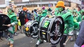 Παραδοσιακό καρναβάλι στην Κολωνία απόθεμα βίντεο