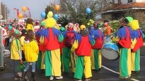 Παραδοσιακό καρναβάλι στη Βόννη απόθεμα βίντεο