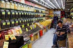 Παραδοσιακό κατάστημα Χογκ Κογκ ιατρικής στοκ φωτογραφία