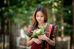 Παραδοσιακό κορίτσι Chakma στοκ εικόνες με δικαίωμα ελεύθερης χρήσης