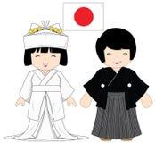 Παραδοσιακό κοστούμι της Ιαπωνίας Στοκ Εικόνες