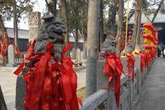 Παραδοσιακό κτήριο στο ναό Guan Yu Στοκ Φωτογραφίες