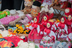 Παραδοσιακό κλωστοϋφαντουργικό προϊόν κουκλών Στοκ φωτογραφίες με δικαίωμα ελεύθερης χρήσης