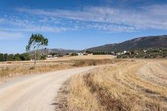 Παραδοσιακό μικρό χωριουδάκι στο Λα Mancha στοκ φωτογραφία με δικαίωμα ελεύθερης χρήσης