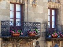 Παραδοσιακό μπαλκόνι δαντελλών σιδήρου, Poble Espanyol, Βαρκελώνη Στοκ Εικόνα