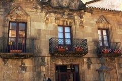 Παραδοσιακό μπαλκόνι δαντελλών σιδήρου, Poble Espanyol, Βαρκελώνη Στοκ φωτογραφίες με δικαίωμα ελεύθερης χρήσης
