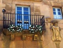 Παραδοσιακό μπαλκόνι, Poble Espanyol, Βαρκελώνη Στοκ φωτογραφία με δικαίωμα ελεύθερης χρήσης