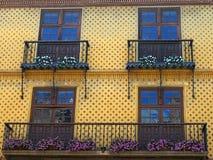 Παραδοσιακό μπαλκόνι, Poble Espanyol, Βαρκελώνη Στοκ Φωτογραφίες