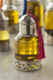Παραδοσιακό μπουκάλι με argan το πετρέλαιο Στοκ Φωτογραφίες