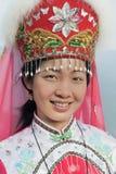 Παραδοσιακό ντυμένο κορίτσι μειονότητας Zhuang, Longji, Κίνα Στοκ εικόνα με δικαίωμα ελεύθερης χρήσης