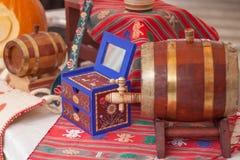 Παραδοσιακό ξύλινο βαρέλι Στοκ εικόνα με δικαίωμα ελεύθερης χρήσης