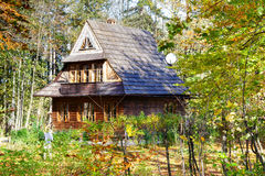 παραδοσιακό ξύλινο zakopane σπι&ta Στοκ Φωτογραφίες