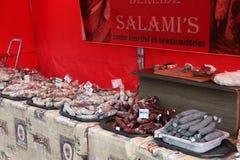 Παραδοσιακό λουκάνικο σαλαμιού Στοκ Εικόνες