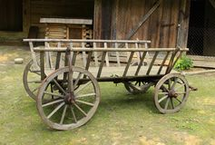 Παραδοσιακό ουκρανικό βαγόνι εμπορευμάτων Στοκ Εικόνα