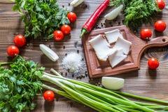 Παραδοσιακό ουκρανικό πρόχειρο φαγητό Στοκ Εικόνα