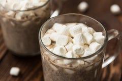 Παραδοσιακό ποτό για το χειμώνα - καυτό κακάο στοκ εικόνες