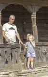 Παραδοσιακό ρουμανικό ξύλινο μέρος Στοκ Εικόνες