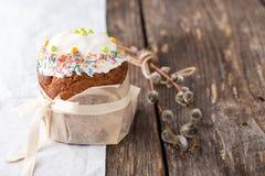 Παραδοσιακό ρωσικό κέικ Kulich Πάσχας Στοκ εικόνες με δικαίωμα ελεύθερης χρήσης