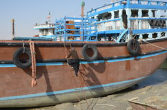 Παραδοσιακό σκάφος και shipmaster Στοκ Εικόνες