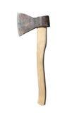 Παραδοσιακό σκουριασμένο τσεκούρι σιδήρου με την ξύλινη απομονωμένη λαβή κινηματογράφηση σε πρώτο πλάνο ο Στοκ φωτογραφία με δικαίωμα ελεύθερης χρήσης