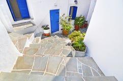 Παραδοσιακό σπίτι σε Apollonia Σίφνος Ελλάδα Στοκ Φωτογραφία
