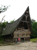 Παραδοσιακό σπίτι στη λίμνη toba στοκ φωτογραφίες με δικαίωμα ελεύθερης χρήσης