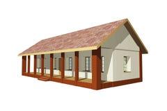 Παραδοσιακό σπίτι Στοκ εικόνα με δικαίωμα ελεύθερης χρήσης