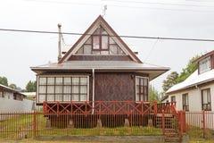 Παραδοσιακό σπίτι Curaco de Velez, Χιλή στοκ εικόνα με δικαίωμα ελεύθερης χρήσης