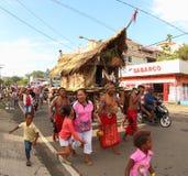 Παραδοσιακό σπίτι Papuan στην τέχνη και το πολιτιστικό φεστιβάλ 2017 Στοκ Εικόνες