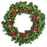 Παραδοσιακό στεφάνι Χριστουγέννων Στοκ Εικόνα