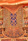 Παραδοσιακό ταϊλανδικό ύφους σχέδιο ζωγραφικής τέχνης χρυσό στο ναό Bangk Στοκ φωτογραφίες με δικαίωμα ελεύθερης χρήσης
