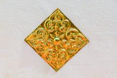 Παραδοσιακό ταϊλανδικό ύφους σχέδιο ζωγραφικής τέχνης χρυσό Στοκ Εικόνα