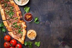 Παραδοσιακό τουρκικό ψωμί pide Στοκ Εικόνα