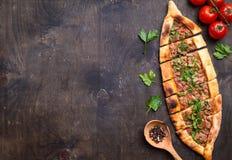 Παραδοσιακό τουρκικό ψωμί pide Στοκ Εικόνες