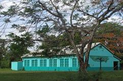 Παραδοσιακό χαρακτηριστικό carribean σπίτι στη Μπελίζ στοκ φωτογραφία
