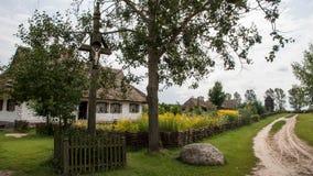 Παραδοσιακό χωριό στην Πολωνία Στοκ Φωτογραφία