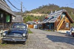 Παραδοσιακό χωριό στη Σερβία στοκ εικόνα με δικαίωμα ελεύθερης χρήσης