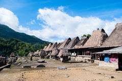 Παραδοσιακό χωριό Bena σε κεντρικό Flores Στοκ Εικόνες
