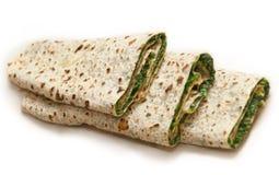 Παραδοσιακό ψωμί με τα πράσινα από Karabakh Στοκ εικόνες με δικαίωμα ελεύθερης χρήσης