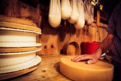 Παραδοσιακό Cheesemaking Στοκ Εικόνα