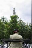 Παραδοσιακό Fiaker στη Βιέννη, Αυστρία Στοκ εικόνα με δικαίωμα ελεύθερης χρήσης