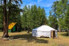 Παραδοσιακό ger στη Μογγολία Στοκ εικόνα με δικαίωμα ελεύθερης χρήσης