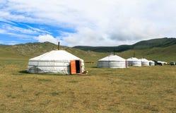 Παραδοσιακό gers στη Μογγολία Στοκ Εικόνα