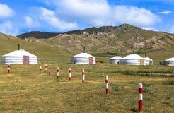 Παραδοσιακό gers στη Μογγολία Στοκ Φωτογραφίες