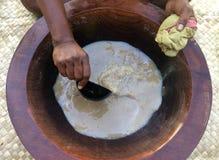 Παραδοσιακό Kava πίνει το εθνικό ποτό των Φίτζι Στοκ Εικόνα
