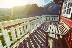 Παραδοσιακό norwagian ξύλινο σπίτι Στοκ εικόνες με δικαίωμα ελεύθερης χρήσης